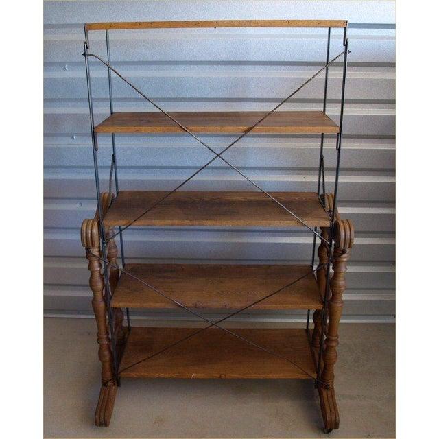 Yesbera Antique Baker Tilt Table/Shelving Unit - Image 7 of 8
