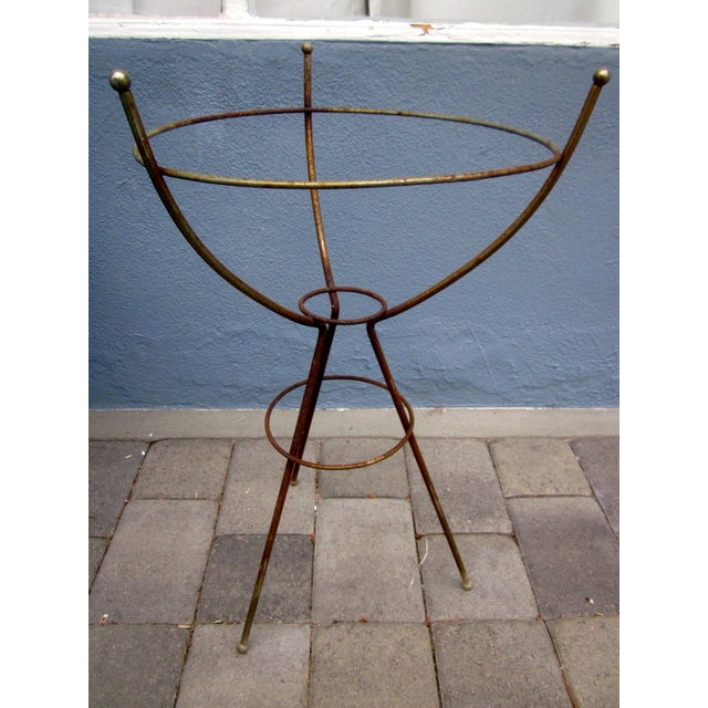 Mid Century Modern Atomic Wire Plant Stand Tripod  Chairish