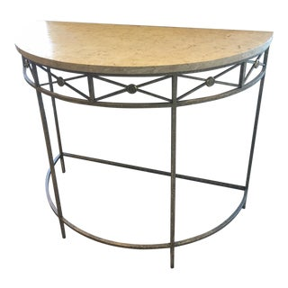Italian Stone Top Demi Lune Table