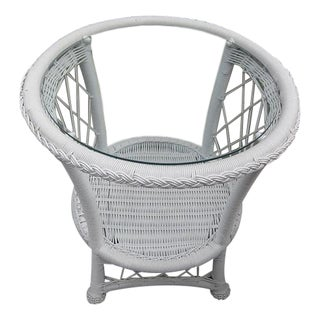 Coral Bay Patio Glass-Top Round End Table