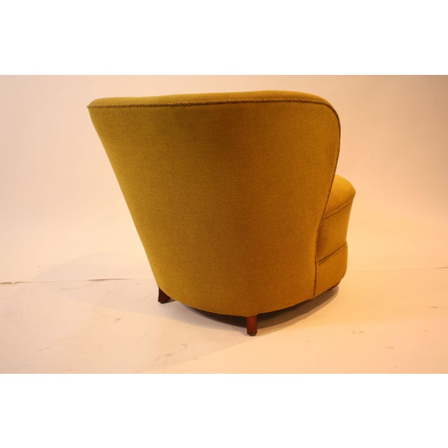 1940s Chartreuse Slipper Chair - Image 5 of 7