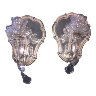 Vintage Candlestick Wall Mirrors - A Pair