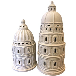 Architectural Dome Buildings - A Pair