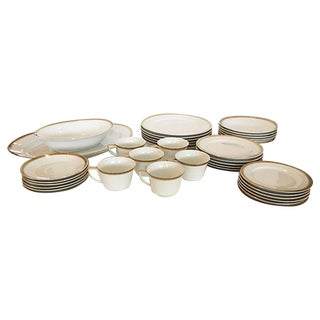 Greek Key Dinner Set - Set of 6