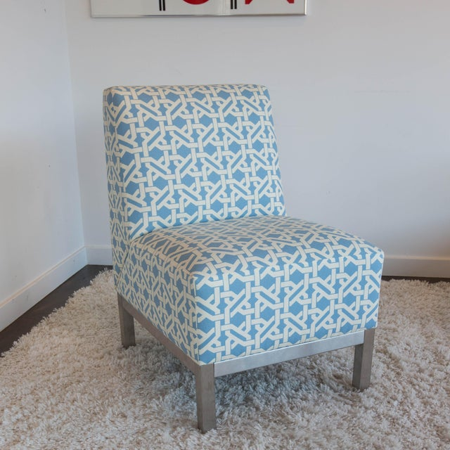 Image of Pair of Modern Slipper Chairs