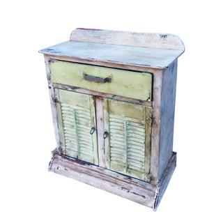 Vintage Rustic Shutter Door Cabinet