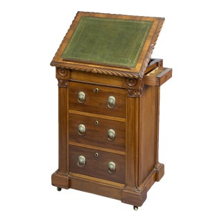English Antique Late Regency Library Cabinet/Desk