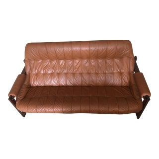 1970s Mid-Century Percival Lafer Leather Sofa