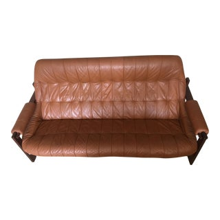 1970s Mid-Century Percival Lafer Leather Sofa