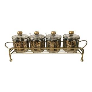 Mid-Century Modern Cocktail Garnish Jars - Set of 4