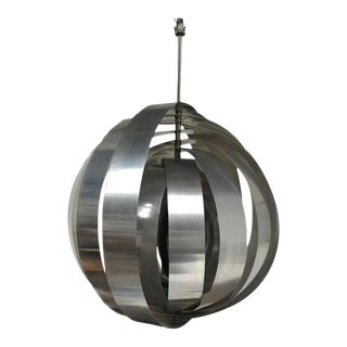 Dutch 1960s Aluminium Panton Inspired Moonlamp Pendant