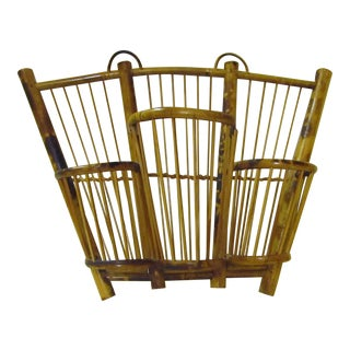 Vintage Burnt Bamboo Wall-Mount Wine Rack