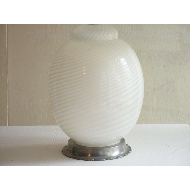 Image of White Murano Table Lamp