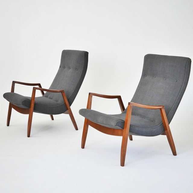 Image of Milo Baughman Pair of Scoop Lounge Chairs