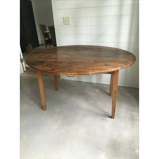 Antique French Drop Leaf Dining Table - Image 2 of 9