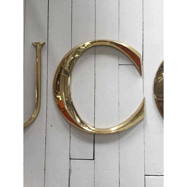 """Brass Letters Spelling """"GUCCI"""" - Image 4 of 5"""