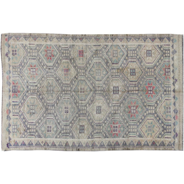 Image of Apadana - Vintage Turkish Summakh Rug - 6' x 10'