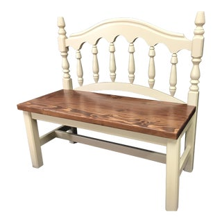 Repurposed Head Board Bench