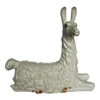 Italian Majolica Glazed Llama
