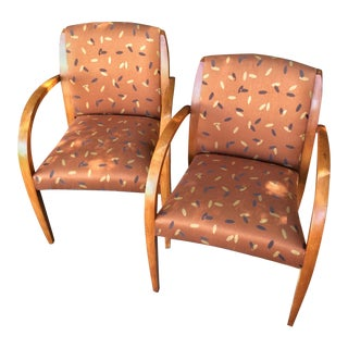 Retro Upholstered Side Chairs - A Pair