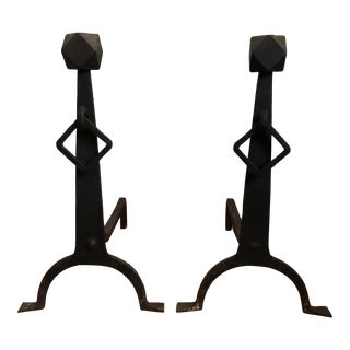 Andirons - Arts & Crafts Andirons - a Pair