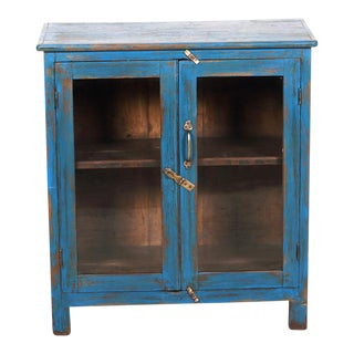 Vintage Petite Blue Cabinet