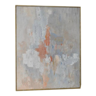 C.1972 Hayley Pyle Abstract Oil Painting