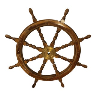 Vintage Architectural Nautical Salvage Ship Wheel