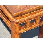 Image of Vintage Pagoda Style Oriental Bench
