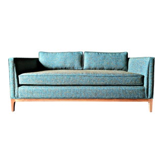 Mid Century Style Custom Love Seat Sofa With Full Arm