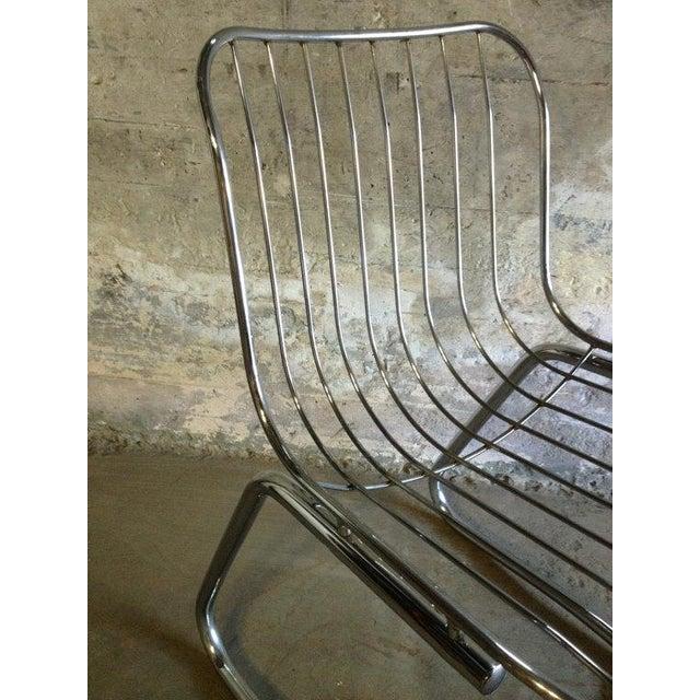 Image of Chrome Mid-Century Modern Tubular Chair