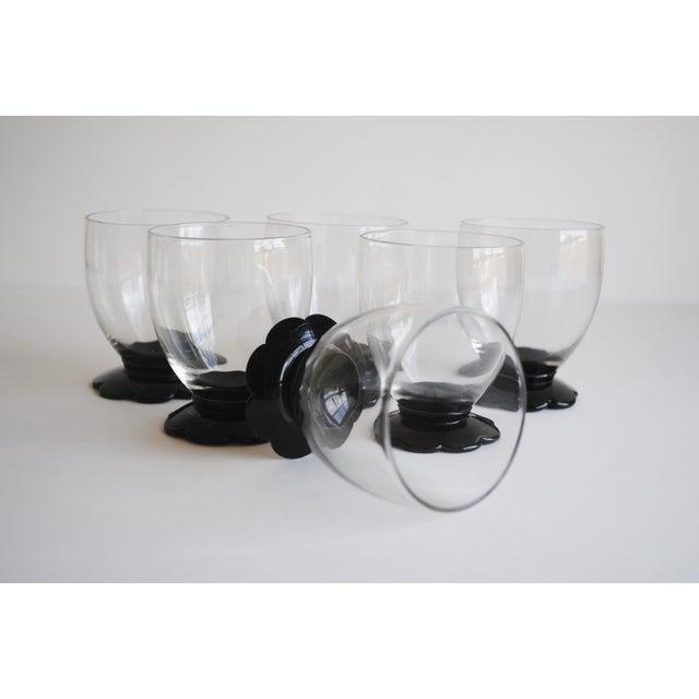 Black Scalloped Cocktail Glasses, Set of 6 - Image 7 of 8