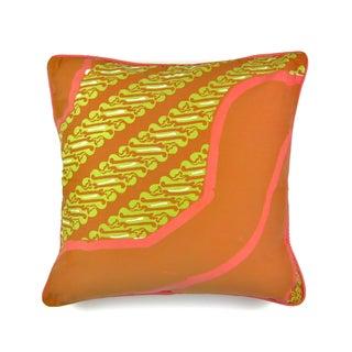 Cap Batik Tangerine Pillow