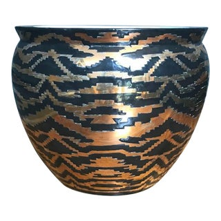 Gold and Black Tribal Planter