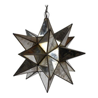 Contemporary Starburst Mirrored Chandelier
