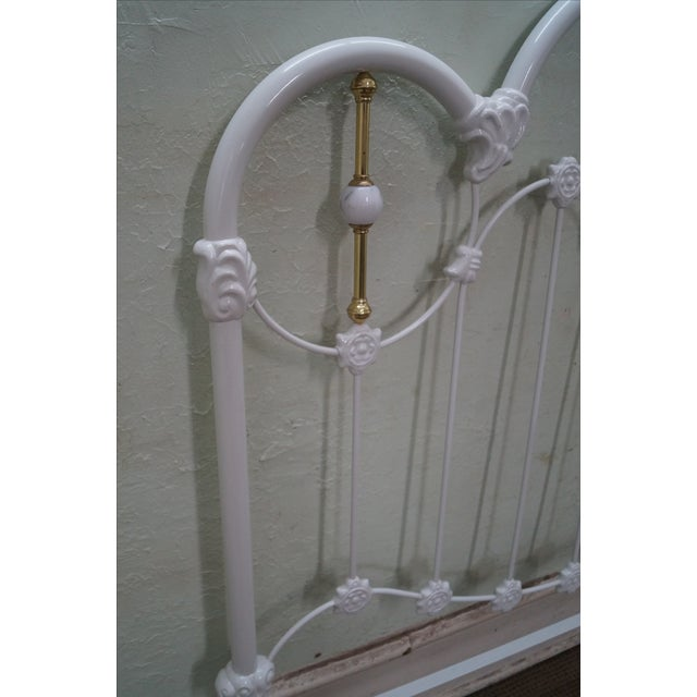 Painted Iron Brass Victorian Full Size Headboard - Image 5 of 10