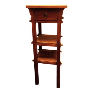 Arts and Crafts Wood Stand With Mortise and Through-Tenons