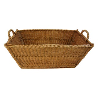 French Willow & Wicker Market Basket