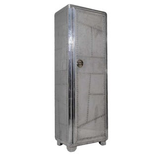 Riveted Metal Aviator Tall Cabinet