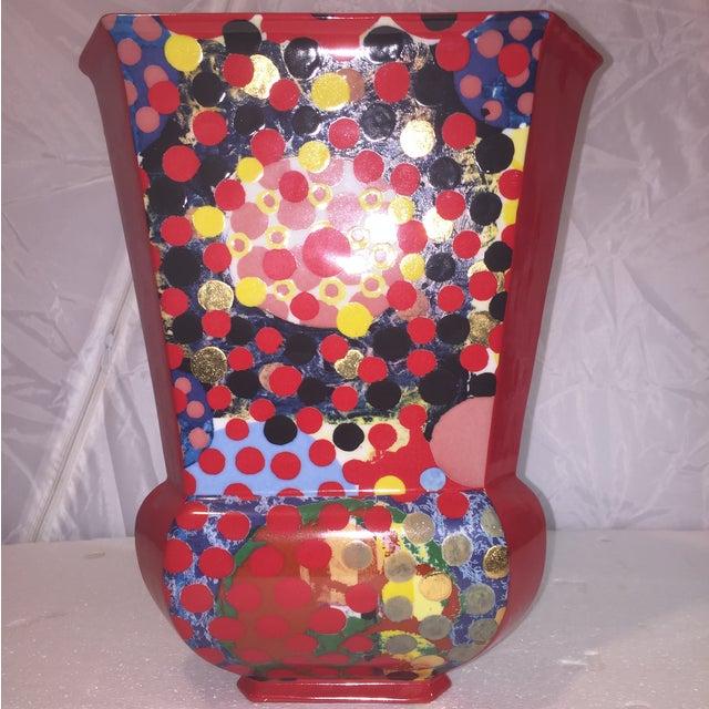 Porcelain Dot Vase - Image 2 of 5