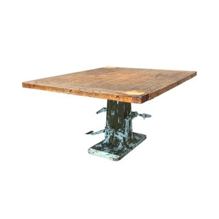 Vintage Wood and Metal Industrial Printer's Table