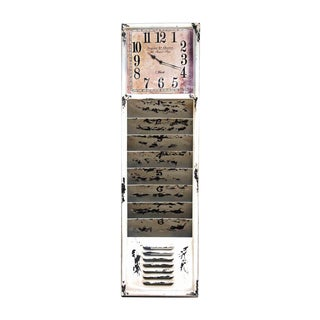 Distressed Metal Wall Clock