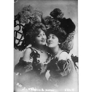 Vaudeville Sisters - Print of Photo From Late 1800's
