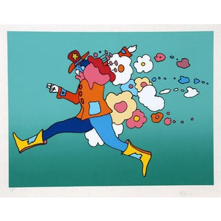 "1972 Peter Max ""Flower Jumper"" Print"