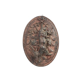 French Terracotta Hunt Plaque