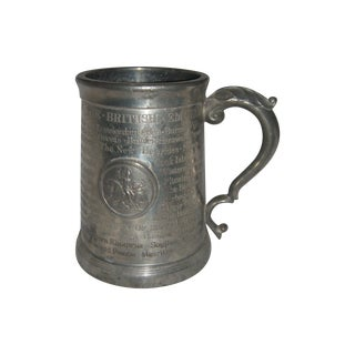 Historic British Empire Colonies Pewter Mug