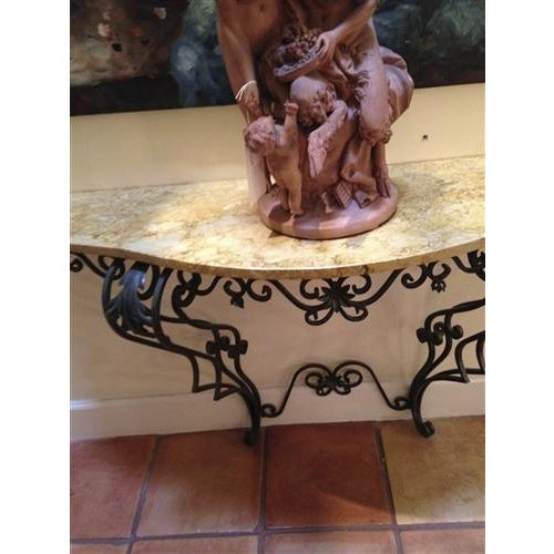 Classical Italian Antique Marble Top Console Table - Image 3 of 3
