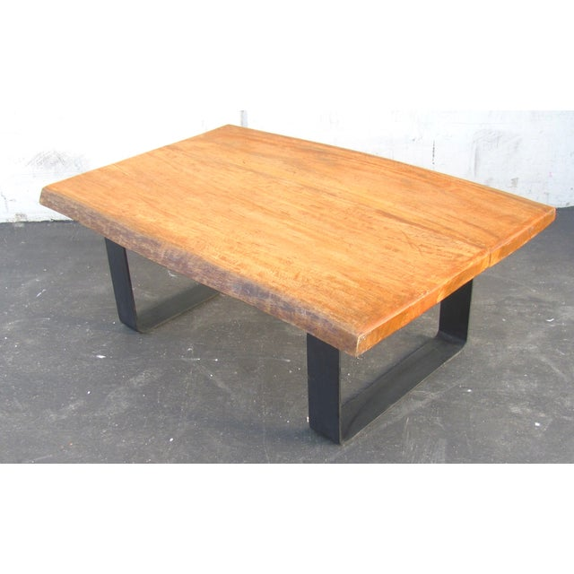 Minimalist Natural Wood Slab Coffee Table
