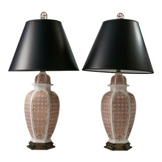Ceramic Table Lamps - A Pair