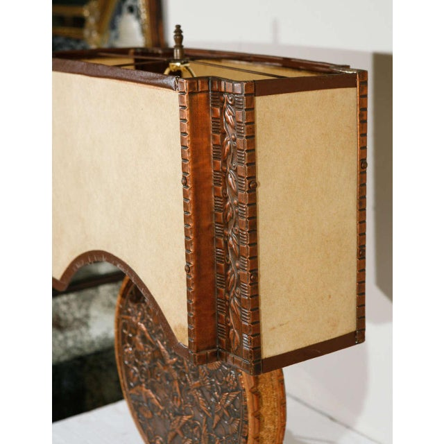 Repousse Table Lamp and Shade (Round Body) - Image 7 of 7